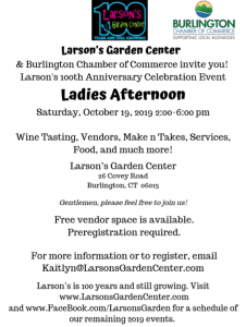 LGC Ladies Afternoon October 19 flyer