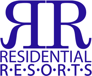 Residential Resorts logo in blue