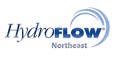 HydroFLOW Northeast logo with blue lettering